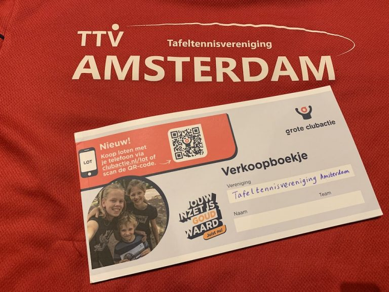 Support TTV Amsterdam and buy Clubactie lottery tickets